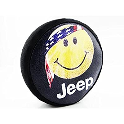 Hot Racing SCX36117H 1/10 Scale Happy Face Spare Tires Cover - (toy)