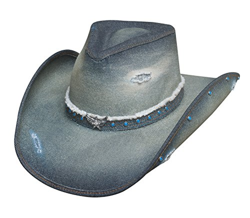BULLHIDE HATS SASSY COWGIRL COLLECTION SILVER WINGS 2828 (SMALL), Blue