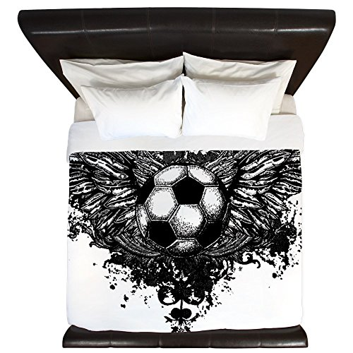 King Duvet Cover Soccer Ball Futbol Angel Wings by Royal Lion