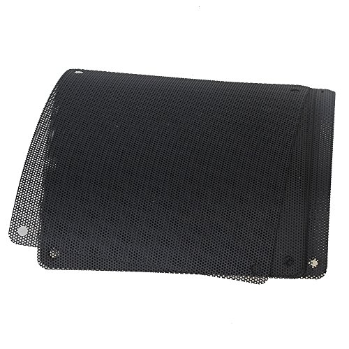 BQLZR 140mm PVC Black PC Cooler Fan Dust Filter Dustproof Case Cover Computer Mesh Pack of 10