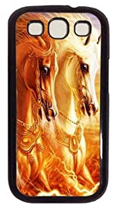 3D Horse PC Case Cover For Samsung Galaxy S3 SIII I9300 Black