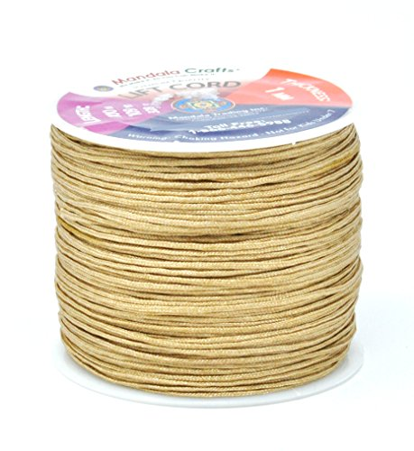 Mandala Crafts Blinds String, Lift Cord Replacement from Braided Nylon for RVs, Windows, Shades, and Rollers (1mm, Tan)