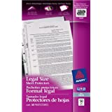 """Avery Legal Size Sheet Protectors,  8-1/2"""" x 14"""", Clear, 50 Sheets (75287)"""