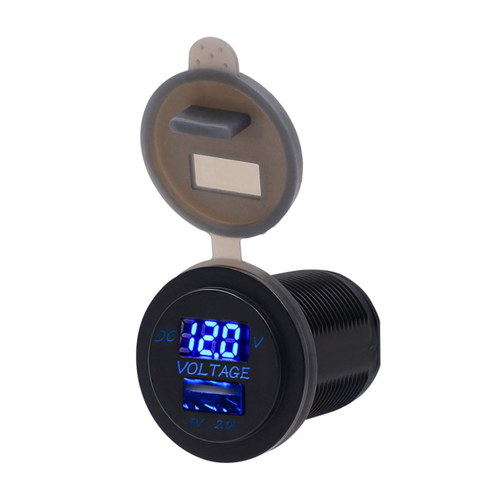 Blue 24VUSB Car Phone Charger Car Voltmeter 2 in 1 WinnerEco LED Digital Voltage Meter,12