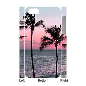 Hjqi - Custom Aloha Palm Trees 3D Phone Case, Aloha Palm Trees DIY Case for iPhone 4,4G,4S
