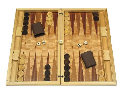 Dal Negro Wood Backgammon Board Game Set - Poplar (Finest Italian Design Furniture)