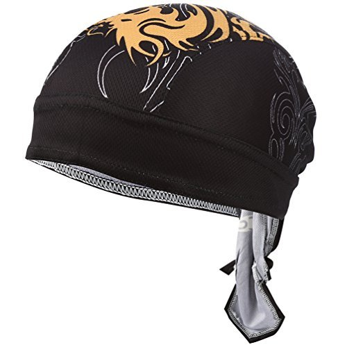 (VBIGER Sweat Wicking Beanie Skull Cap Quick Dry Adjustable Cycling Hat Wrap RAG Men Women (X-Color 1))