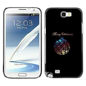 TopCaseStore / la caja del caucho duro de la cubierta de protección de la piel - Christmas Minimalist Ball Shiny - Samsung Galaxy Note 2 N7100