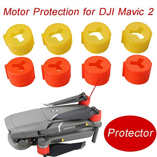 Price comparison product image Aobiny Drone Accessories,  4PCS Silicone Motor Cover Caps Dust Cover Spare Parts Motor Protection, for DJI Mavic 2 Drone (Red)