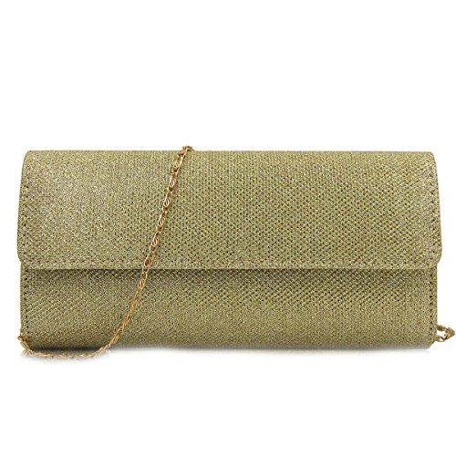 Purse Evening Womens Bag Handbag Gold Blue Wedding Party Flada Dark Ladies Bag Clutch npZwqXT