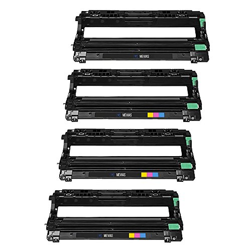 Mevias Premium 4 Pack Compatible DR221CL Drum Unit DR221 High Yield for Brother TN221BK TN225C TN225M TN225Y Toner for Brother HL-3140CW HL-3150CDN MFC-9130CW MFC-9330CDW MFC-9340CDW Printer (Cyan Drum Unit Cartridge)