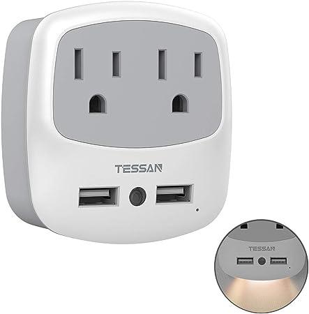 Amazon.com: TESSAN - Extensor de enchufe USB, adaptador de ...