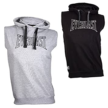 Everlast Hoodie Sweat Top Logo ärmellos Trainings und Warm up Pulli Box und Kampfsport Hoody
