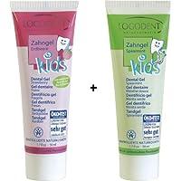 Logona Logodent Zahngel Kids Spearmint 50 ml und Zahngel Kids Erdbeere 50 ml im Set für frische Abwechslung
