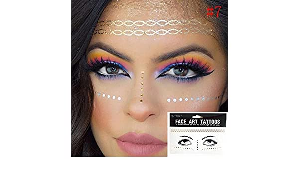 1 paquete Face flash tattoo Festival Party Body Glitter face art ...