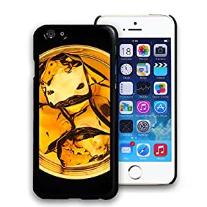 PEP Pattern Hard Plastic Black Back Slim Fit Case Cover Skin for Apple Iphone 6 Plus (5.5 Inch)