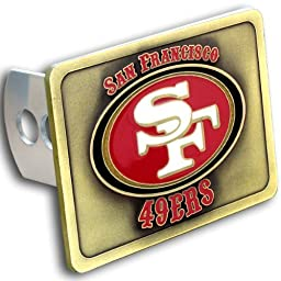 Siskiyou 65412 San Francisco 49Ers NFL Hitch Cover, Class Ii & Iii