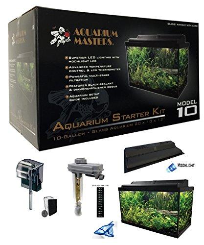 Aquarium Masters One 10 Gallon Aquarium Tropical Fish Setup By