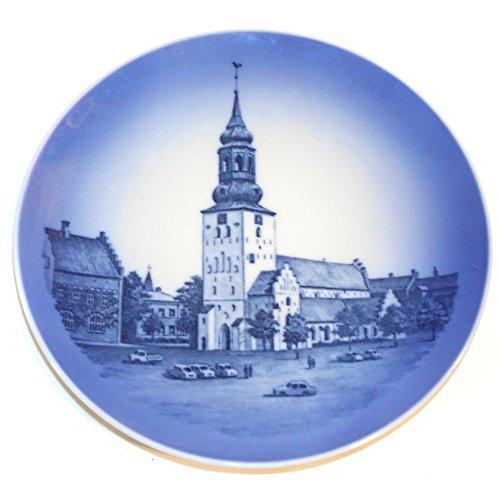 Vintage Royal Copenhagen Alborg Domkirke Budolfi Kirke Blue Transferware - Transferware Black