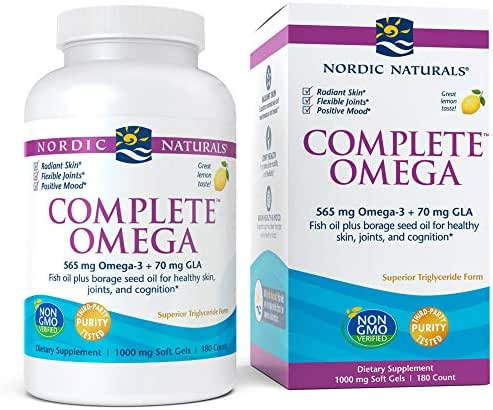 Nordic Naturals - Complete Omega, Supports Healthy Skin, Joints, and Cognition, 180 Soft Gels (FFP)