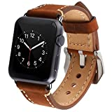 LDFAS Apple Watch Band 42mm Genuine Leather Band for Apple Watch Series 1 Series 2 - Brown