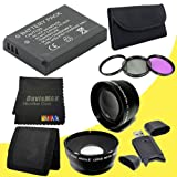 EN-EL9 Lithium Ion Replacement Battery + 52mm 3 Piece Filter Kit + Wide Angle Lens + 2x Telephoto Lens + SDHC Card USB Reader + Memory Card Wallet + DavisMAX MicroFiber Cloth for Nikon D3000 D5000 D40 D40x D60 D3x Digital SLR Cameras with use of the Nikon