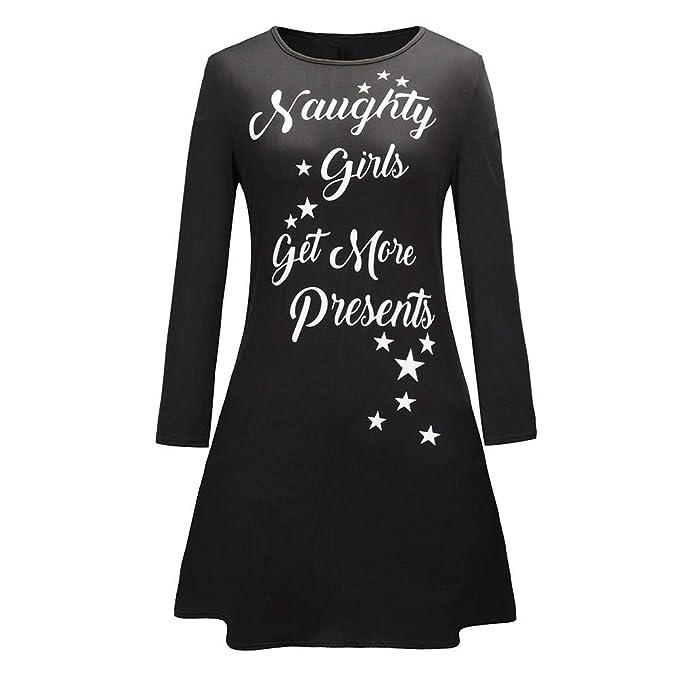 Cvbndfe Cómodo Vestido de túnica para Mujer Vestidos de Manga Larga de Navidad Casual Formal para Damas Elegante (Color : Rojo, tamaño : S): Amazon.es: ...