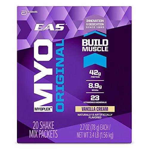 Eas 20 Packet - EAS Myoplex Original Protein Powder Packets, Vanilla Cream, 20 Count by EAS