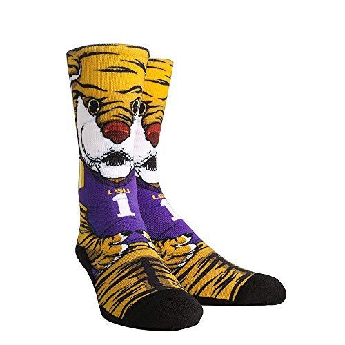 Mike The Tiger Lsu - NCAA Super Premium College Fan Socks (L/XL, LSU Tigers - Mascot Mike)