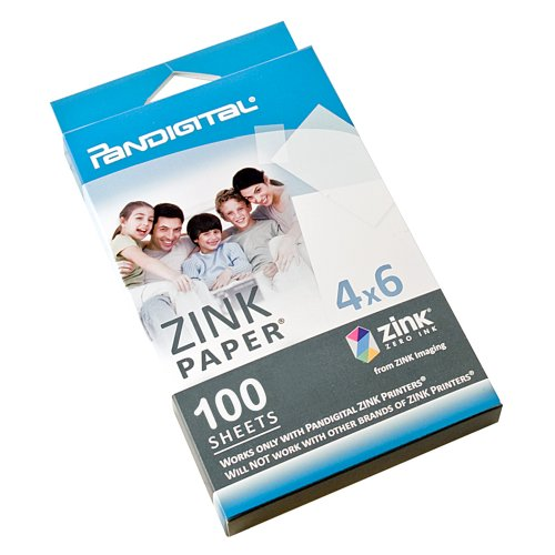 Pandigital Paper for Zero Ink Printer - 100 Pack