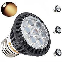 Bonlux 5 Watt LED E26/E27 LED Spotlight Bulb - 50 Watt E26 Halogen Replacement Bulb, 45 Degree Lighting, 450lm, MR16 Lamp Shape Medium Screw Lamp Base LED Light Bulbs (3, Warm White)