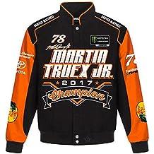 J.H. Design Martin Truex Jr 2017 Monster Energy NASCAR Cup Series Champion Jacket Size Medium