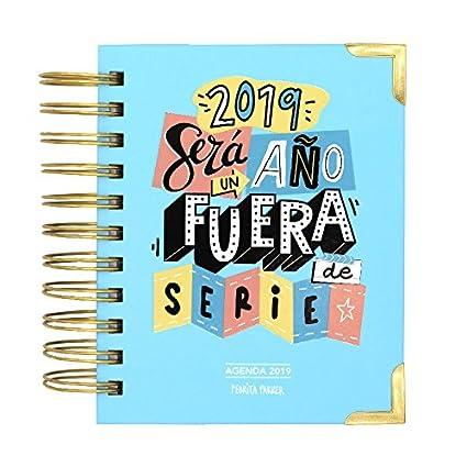 Pedrita Parker - Agenda diaria 2019 con mensaje Un año fuera de serie, color azul