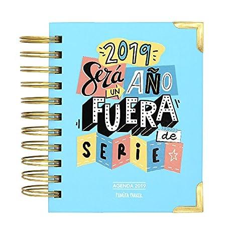 Pedrita Parker - Agenda diaria 2019 con mensaje Un año fuera de serie, color azul: Amazon.es: Oficina y papelería