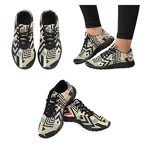Lightweight Walking Shoes Running Womens Jogging Sports Sneaker Athletic InterestPrint 1 Multi wxRIqAYx
