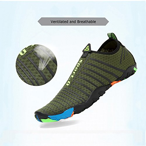 de acuático Verde Calcetines la Saguaro para la de Playa Shoes Rayas Aqua de la Skin de Resaca Descalzo Yoga Nadada tqWtg0wB