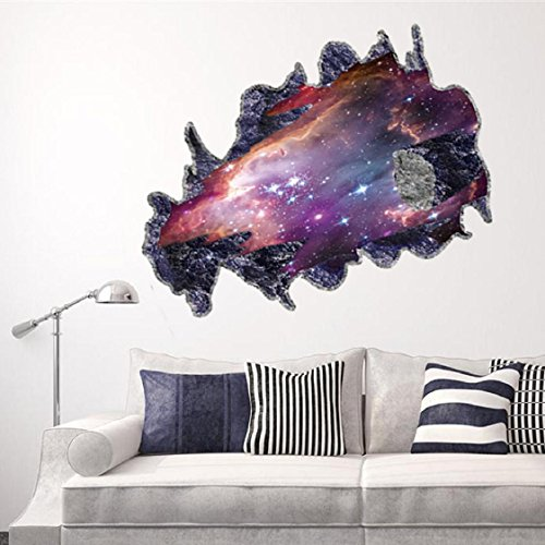 Mchoice 3D Meteorite Wall Sticker Removable Mural Decals Vinyl Art Living Room (Cute Halloween Clip Art Animated)