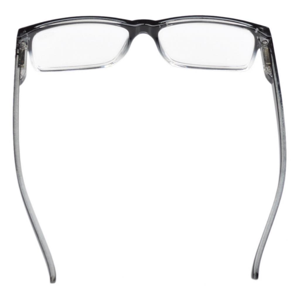 8e1e6061491 Eyekepper Spring Hinges Vintage Reading Glasses Men Readers Black-clear  Frame +0.75  Amazon.co.uk  Health   Personal Care