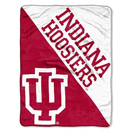 The Northwest Company Officially Licensed NCAA Indiana Hoosiers Halftone Micro Raschel Throw Blanket, 46