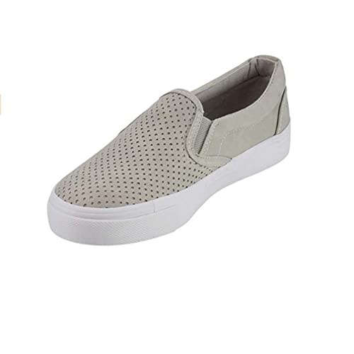 Zapatos de Mujer Malla Zapatos Planos Hueco Transpirable Zapatos Casuales Color Sólido Cabeza Redonda Mocasines Tamaño Grande ...