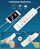 ROOTOMA Power Strip Surge Protector with Individual