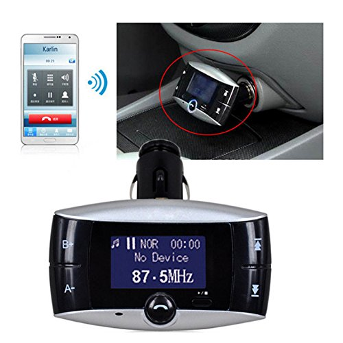 zreal Reproductor MP3/Bluetooth Bluetooth Car Kit SD MMC modulador transmisor USB FM con mando a distancia