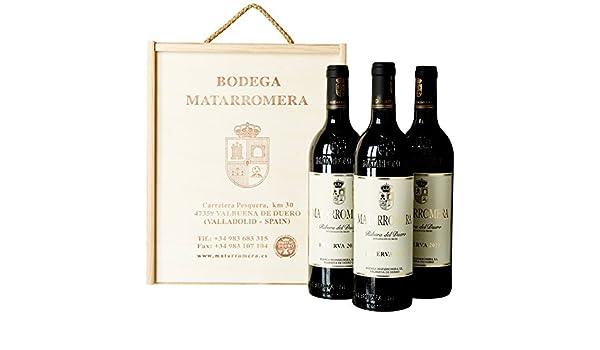 Estuche de Madera de 3 Botellas de Matarromera Reserva - 750 ML: Amazon.es: Alimentación y bebidas