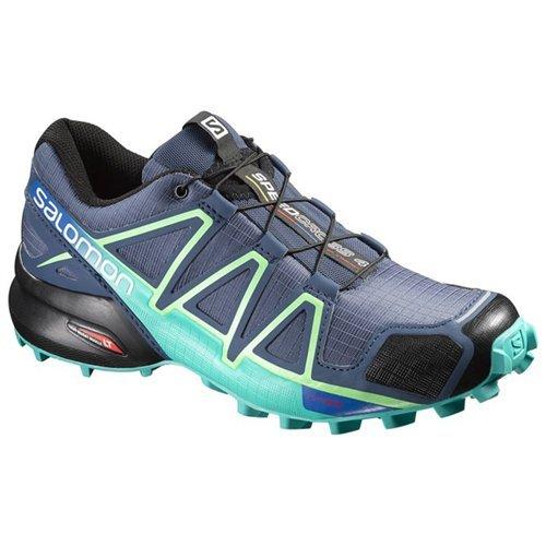Rocky Womens Shoes - Salomon Women's Speedcross 4 W Trail Runner, Slate Blue/Spa Blue/Fresh Green, 9.5 B(M) US