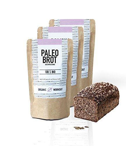 Organic Workout Paleo Brotbackmischung 3er Pack - 100% Bio