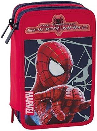 Spider Man Astuccio 3 zip originale con interno prodotti di marca Fila e Giotto