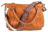 Red Vintage Handbag & Purse Strap Replacement - Jacquard Woven Embroidered Guitar Strap Styled Shoulder Bag Strap - Adjustable Bag Strap For Tote And Messenger Bags –Gold Hardware