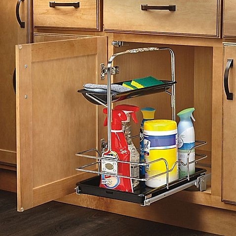 Rev A Shelf Under Sink Pull Out Removable Cleaning Caddy In Chrome