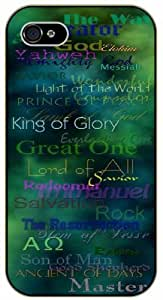 The way, creator, God, Dios, Savior, Messiah, King of Glory, Master - In all languages - Bible verse IPHONE 5C black plastic case / Christian Verses