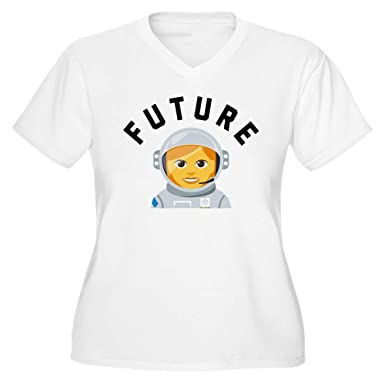d93a33c7147 CafePress Future Astronaut Women s Plus Size V Neck T Shirt Women s Plus  Size V-Neck